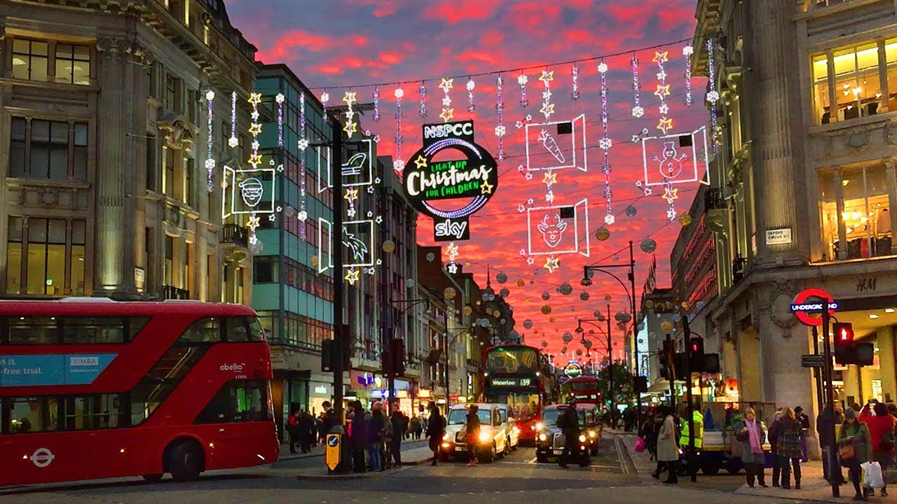 London Walk Oxford Street Christmas Lights And Xmas