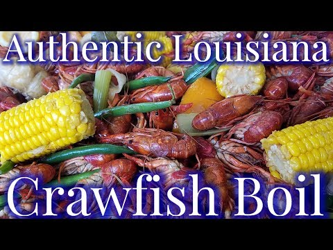 Authentic Louisiana Cajun Crawfish Boil (2018)