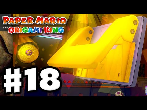 Hole Punch Boss Fight! – Paper Mario: The Origami King – Gameplay Walkthrough Part 18