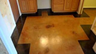Recenty Completed Concrete Staining Job Odessa Texas 432-631-9849