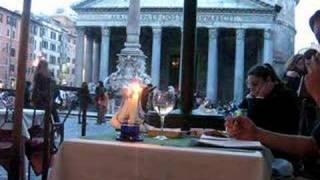 Jaya writing at the Pantheon
