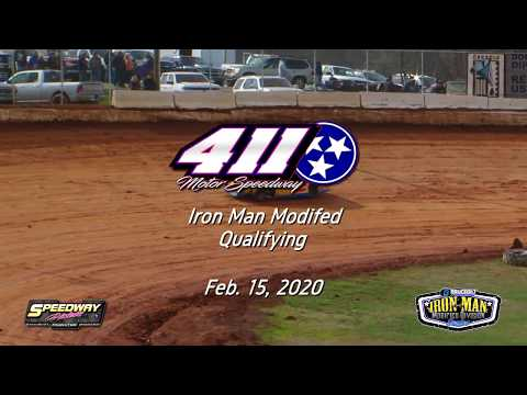 Qualifying Iron Man Modified @ 411 Motor Speedway Feb  15, 2020