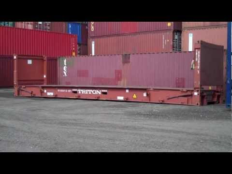 40ft collapsible flat rack shipping container - www.bullmanscontainers.co uk