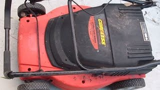 What's inside: Black & Decker 24V Cordless Lawnmower teardown