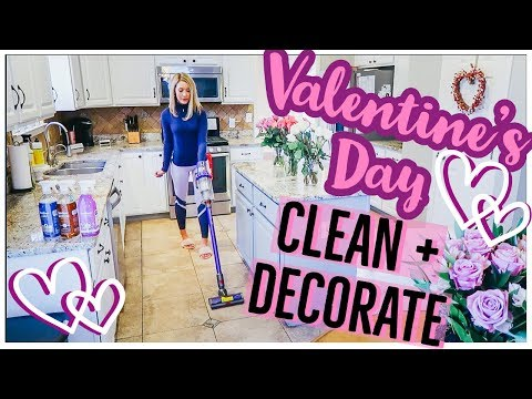 CLEAN WITH ME 2019   HOMEMAKER CLEANING MOTIVATION VALENTINE'S DAY DECORATE WITH ME   Brianna K