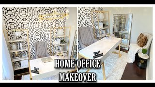 DIY HOME OFFICE MAKEOVER | ROOM TRANSFORMATION
