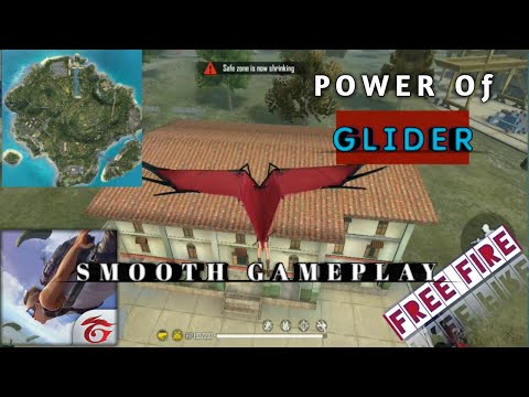 POWER of GLIDER ( part-1) ,Funny moments & gameplay ,Free Fire 🔥 gameplay