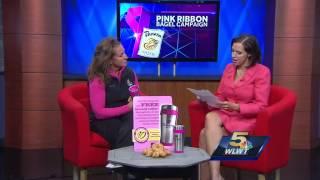 Pink ribbon bagel inititative taking place at Cincinnati Panera Breads