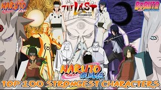 Top 100 Strongest Naruto {Part I, Shippuden & Boruto Movie} Characters ナルト ボルト [Canon Series Finale]