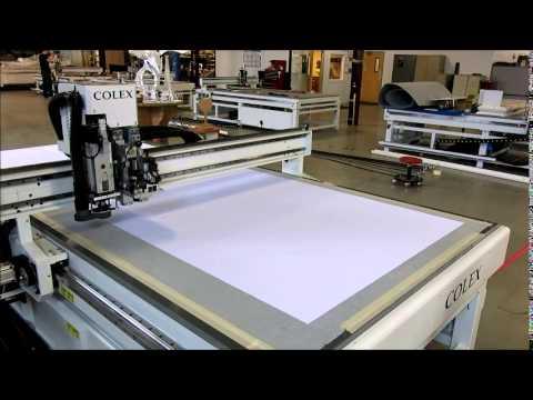 Colex Sharpcut cuts TVF Digi Heavy fabric