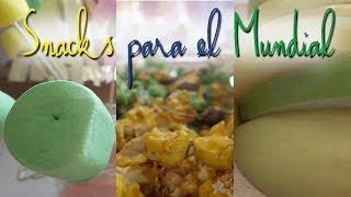 3 snacks para el mundial! (tematica: Brasil) Thumbnail