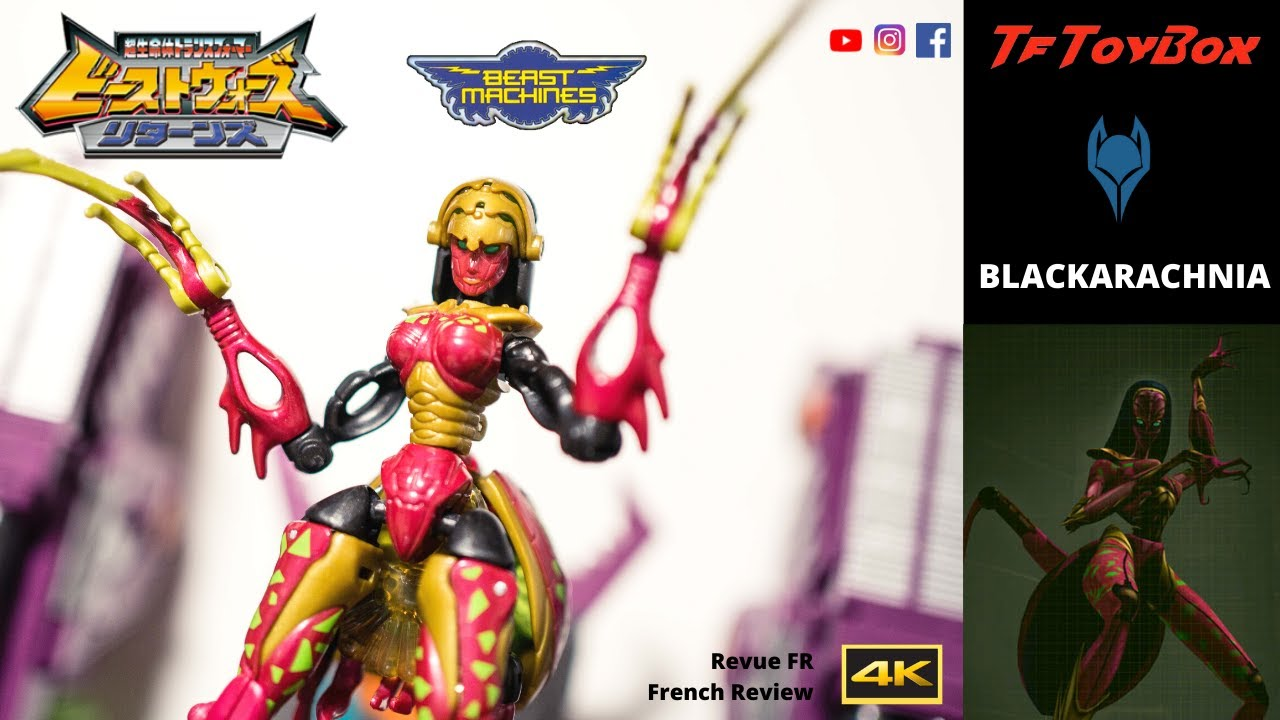 Transformers Blackarachnia Retro Review - Takara Beast Wars Returns / Beast Machines by TfToyBox