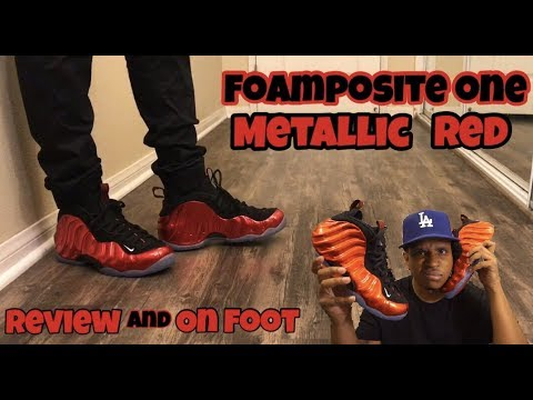 e8d76515c56 2017 Nike Foamposite One Metallic Red Review + On Foot - YouTube