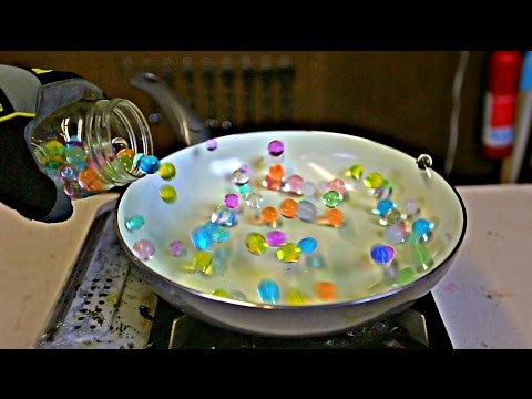 What Happen if You Drop Water Orbeez into HOT PAN?