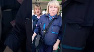 17.05.2019,спасение пассажира,хамское поведение контролера МГТ(толкнула в спину)