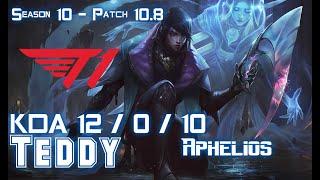 T1 Teddy APHELIOS vs KALISTA ADC - Patch 10.8 KR Ranked