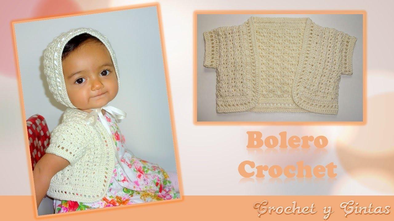 Bolero tejido a crochet para niñas 👧 Parte 1 de 2 - YouTube
