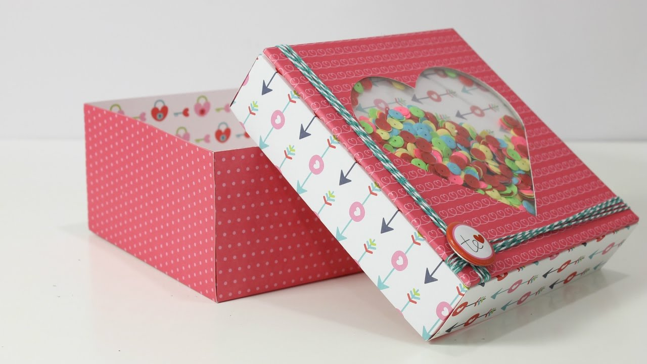 C mo hacer cajita bonita f cil cajita de regalo paso a paso cajitas san valent n youtube - Cajas de carton bonitas ...