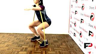 How to train the front squat with band for the young athlete Link B...