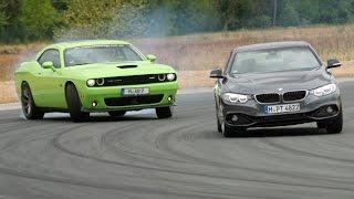 BMW 428i vs. Dodge Challenger SRT - Review/ Test/ Fahrbericht/ Sound
