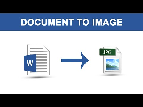 How To Convert Word File Into Image File