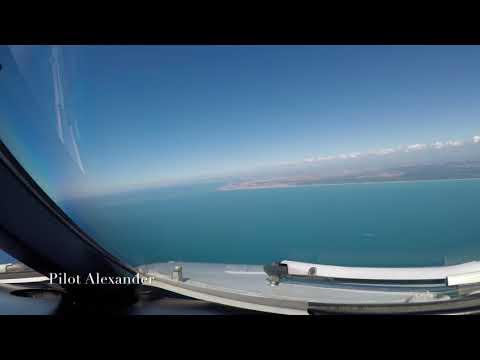 Airbus 330-300 Landing In Rome, Italy 4k