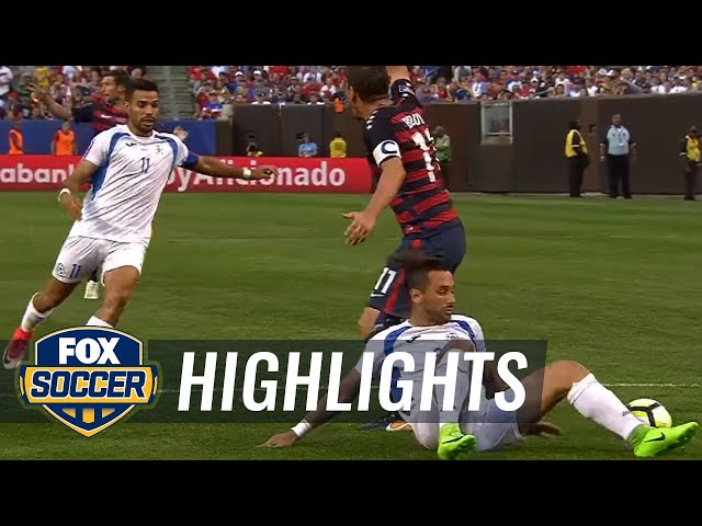 Nicaragua vs. USA   2017 CONCACAF Gold Cup Highlights