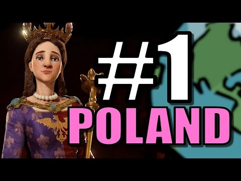 Civ 6: Poland Gameplay [True Start Earth Location Map] Let's Play Civilization 6 Poland | Part 1