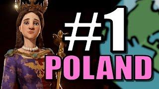 Civ 6: Poland Gameplay [True Start Earth Location Map] Let's Play Civilization 6 Poland | Part 1