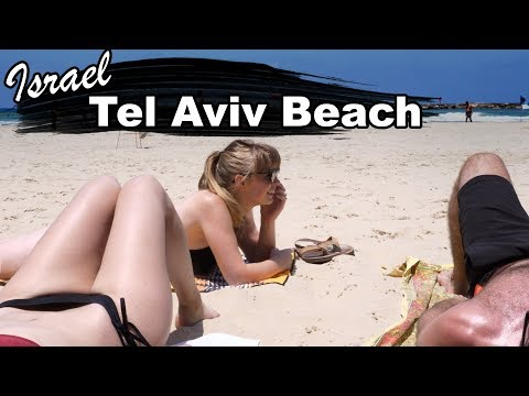 BEST BEACH On The Mediterranean?!  - (Tel Aviv Beach חוף תל אביב)
