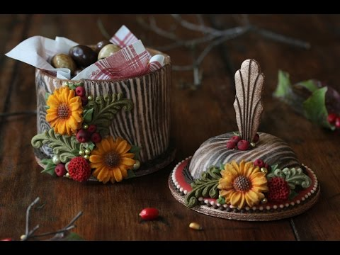 how-to-make-3-d-woodland-cookie-boxes---a-dessert-network-collaboration-using-wilton-molds