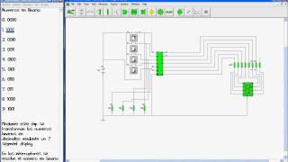circuitos con crocodrile clips de binario a decimal bcd to 7 segment decoder