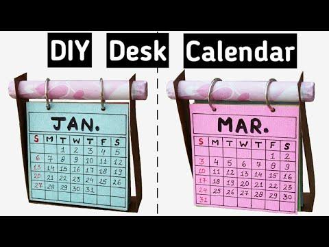 How To Make Desk Calendar Diy Calendar 2019 Youtube