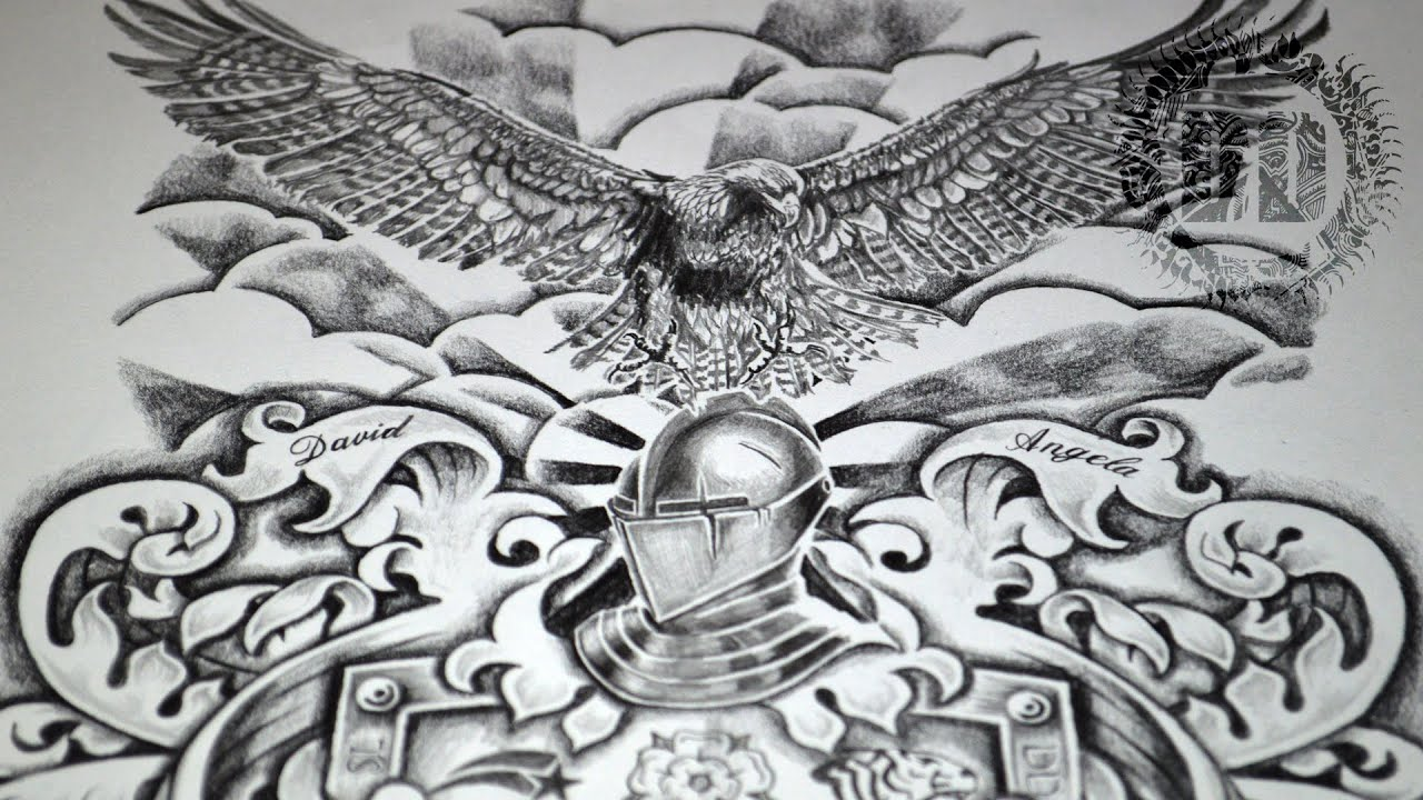 Dark Designs Coat Of Arms Tattoo