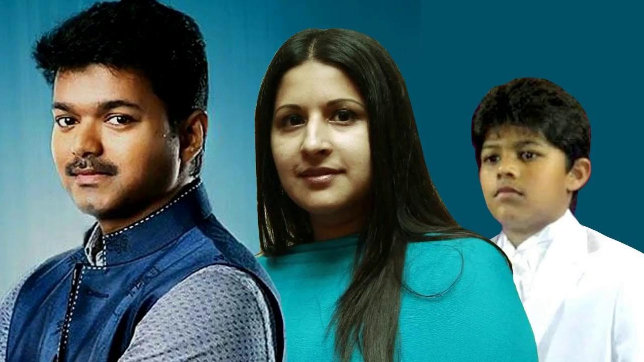 Actor Vijay Family Photos with Wife Sangeetha, Son Sanjay, Daughter Divya  Saasha Pics 2017-2018