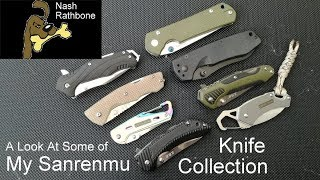 A Look At Some Of My Sanrenmu Knife Collection