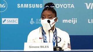 Simone Biles says mental health 'should be talked about a lot more' following bronze medal win