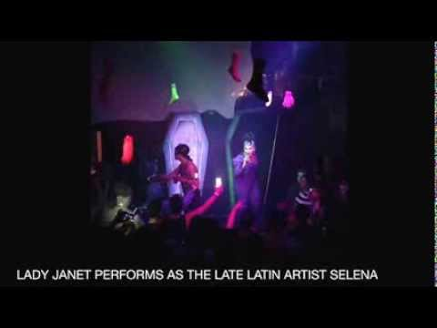 """LADY JANET IMPERSONATES THE LATE LATIN ARTIST SELENA FOR """"CELEBRITY RISING"""""""