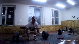 Тяжелая атлетика - тяга с виса толчковая 135кг х 5раз
