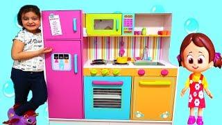 NİLOYA VE ELİF ÖYKÜ'NÜN DEVASA MUTFAĞI - Kidkraft Kids Toy Kitchen - playtime