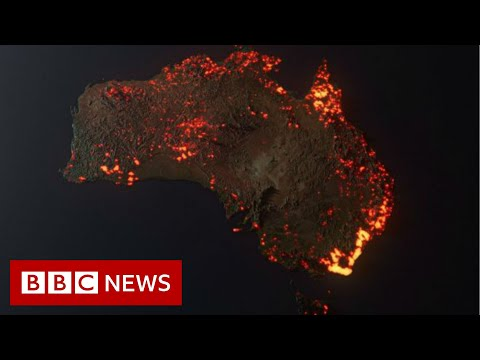 Australia fires: Misleading maps and pictures go viral  - BBC News
