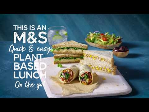 M&S   This Is Not Just Lunch... This Is An M&S Quick & Easy Plant-Based Lunch On The Go
