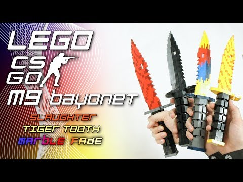 Counter-Strike: Global Offensive: LEGO M9 Bayonet (Slaughter, Tiger Tooth, Marble Fade)