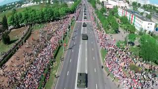 Парад 9 мая 2015 в Гродно. 70 ЛЕТ ПОБЕДЫ.