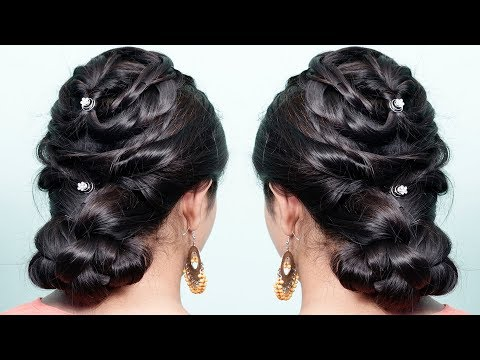Easy and beautiful hairstyles ♥️ new hairstyle for girls ♥️ wedding hairstyles ♥️ bridal hairstyle