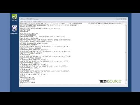 What is EDI - the basics of reading an EDI document  - YouTube