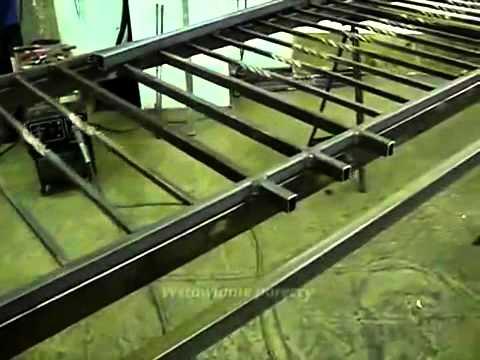 Wspaniały Wykonanie balustrady z profilu zamniętego ( skręconego )15x15x1.5 CY39