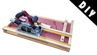 Circular Saw Cross Miter Cutting Station - DIY - How to