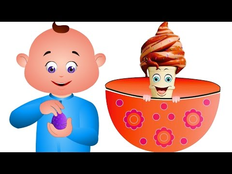 Five Little Babies Opening An Eggs Ice Creams - Kids Songs - JamJammies Nursery Rhymes