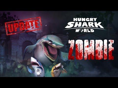 Hungry Shark World UPDATE ZOMBIE SHARK ОГРОМНАЯ АКУЛА ЗОМБИ (Gameplay iOS/Android)